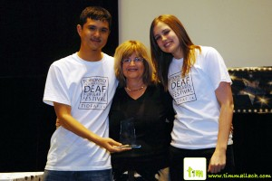 Karyn Rosner with Tristan Kong and Kayla Morden