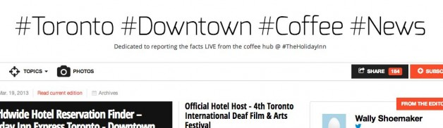 TIDFAF mentioned in #Toronto #Downtown #Coffee #News